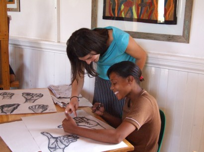 Tarot Couzyn teaching drawing